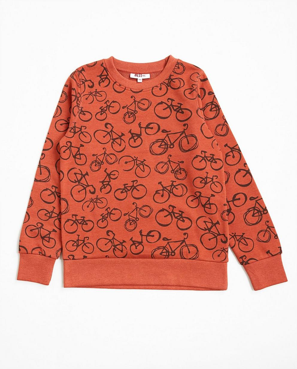 Sweater met fietsenprint - null - Besties
